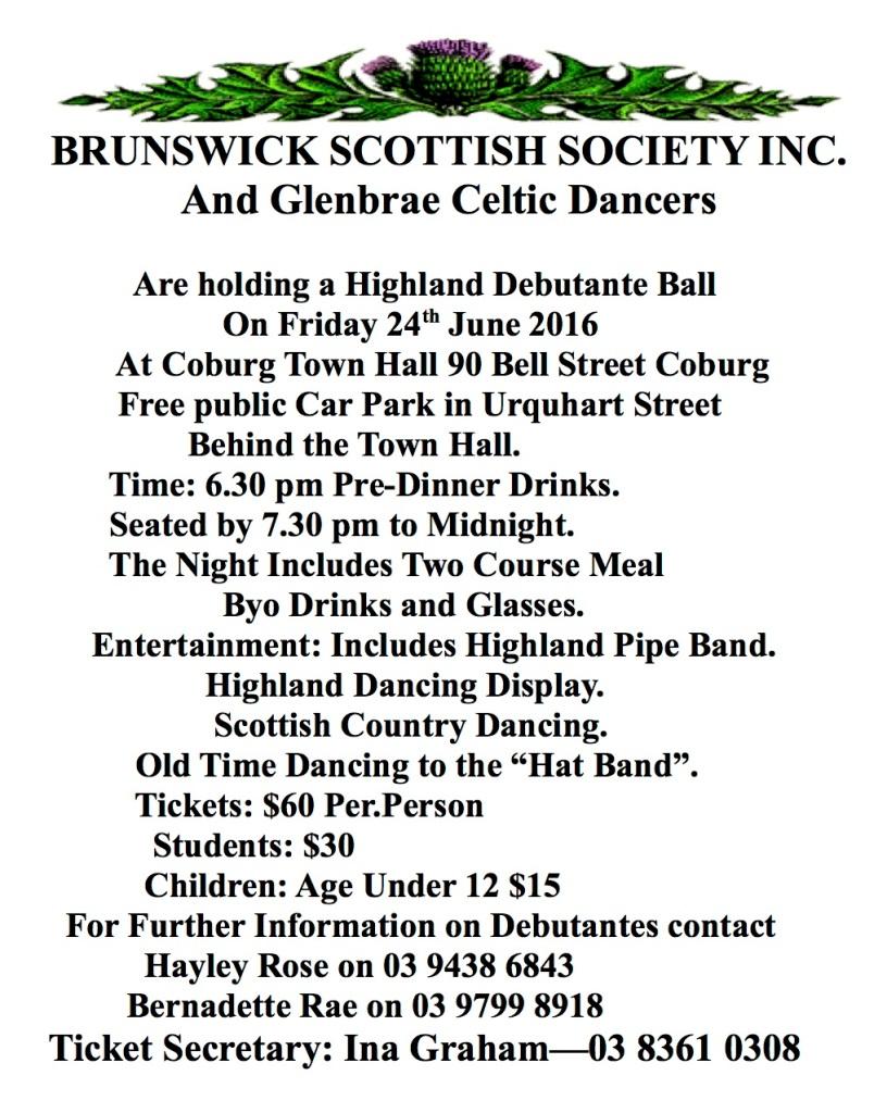 Brunswick Deb. Ball 2016 Leaflet